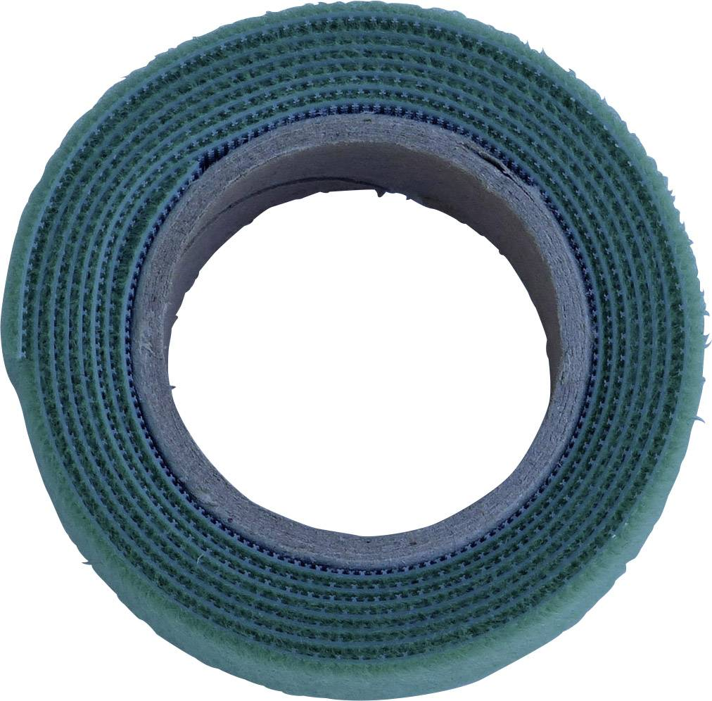 Pásik so suchým zipsom TRU COMPONENTS 910-650-Bag, (d x š) 1000 mm x 20 mm, zelená, 1 m