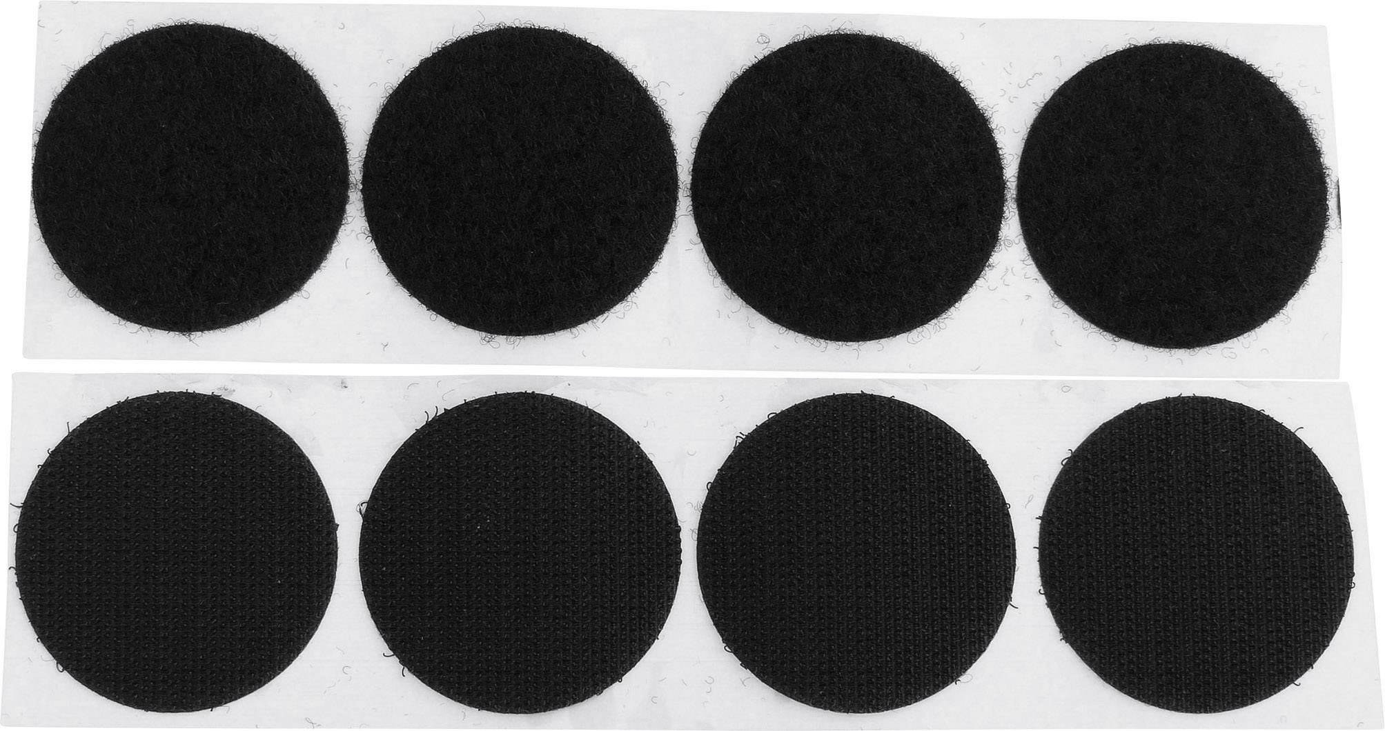 Lepicí kulaté suché zipy TRU COMPONENTS 684-330-Bag 1586385, (Ø) 47 mm, černá, 4 pár
