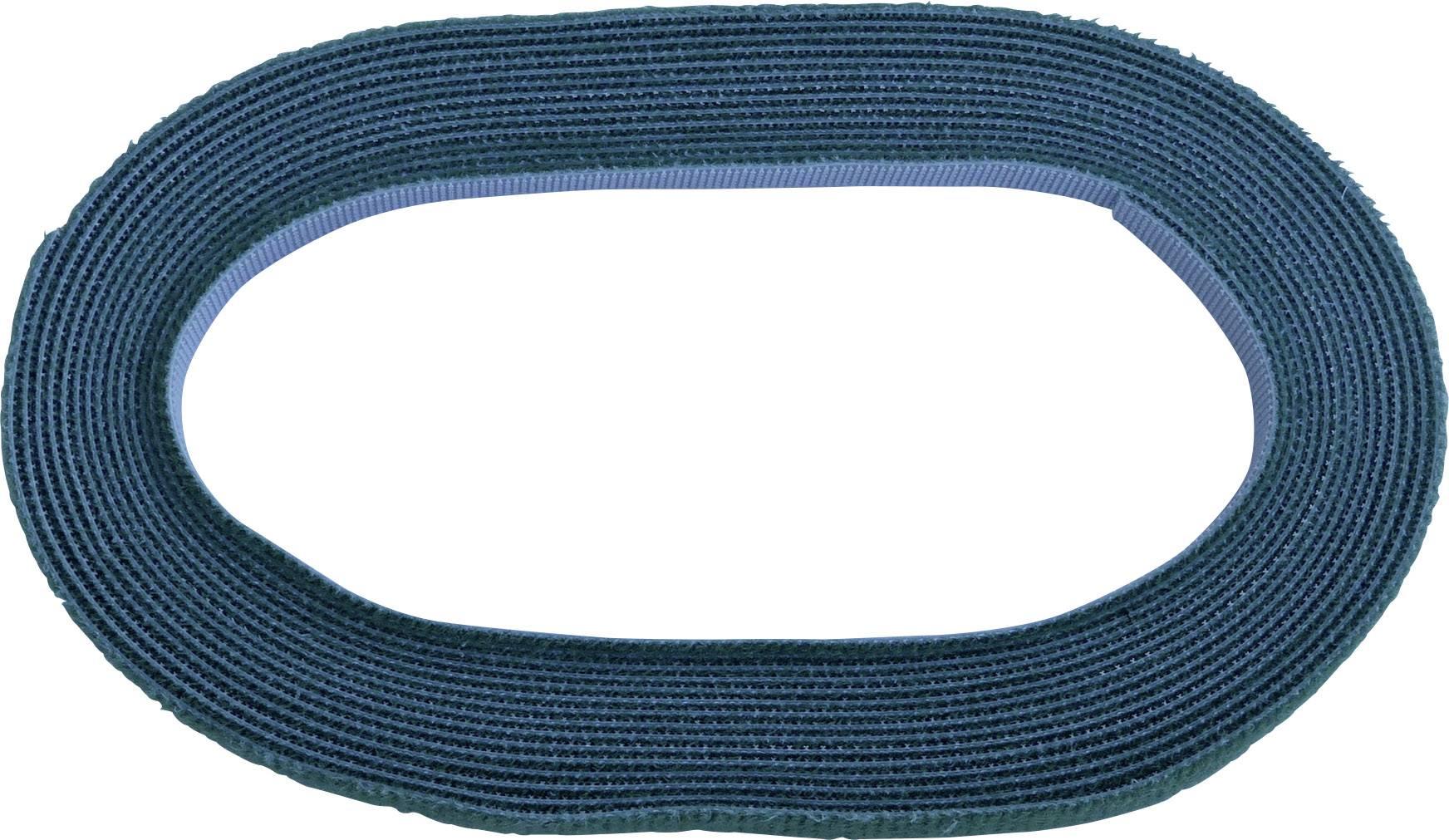 Pásek se suchým zipem TRU COMPONENTS 696-650-Bag, (d x š) 5000 mm x 10 mm, zelená, 5 m