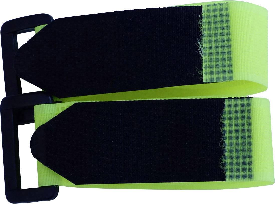 Pásik so suchým zipsom TRU COMPONENTS 688-777-Bag, (d x š) 300 mm x 25 mm, žltá, 2 ks