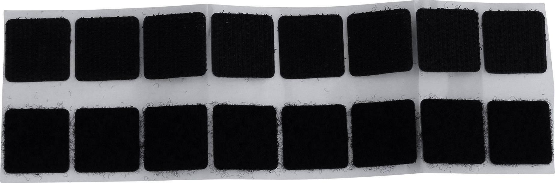 Lepicí čtvercové suché zipy TRU COMPONENTS 682-330-Bag 1586390, (d x š) 20 mm x 20 mm, černá, 4 pár