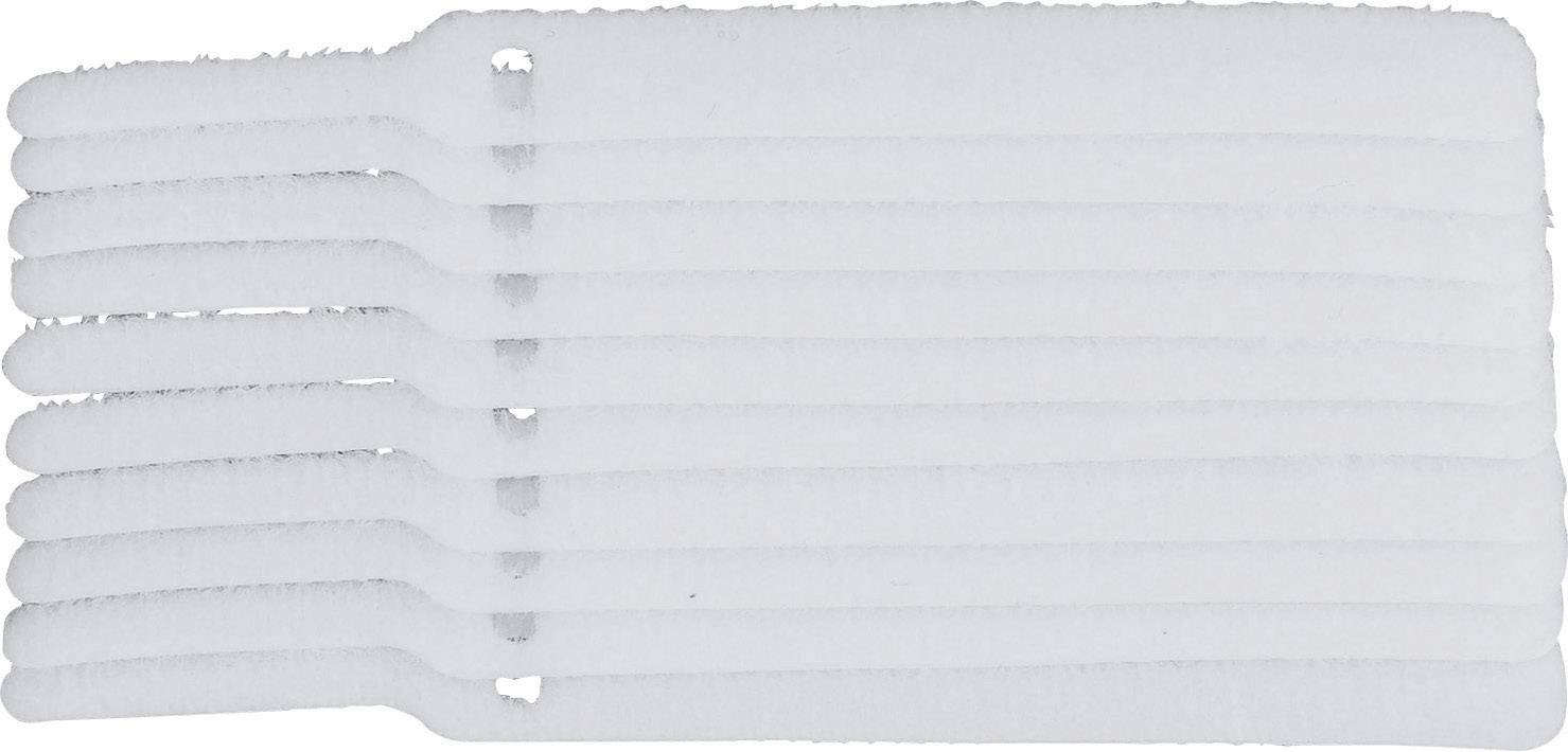 Kabelový manažer na suchý zip TRU COMPONENTS 800-010-Bag, bílá, 10 ks