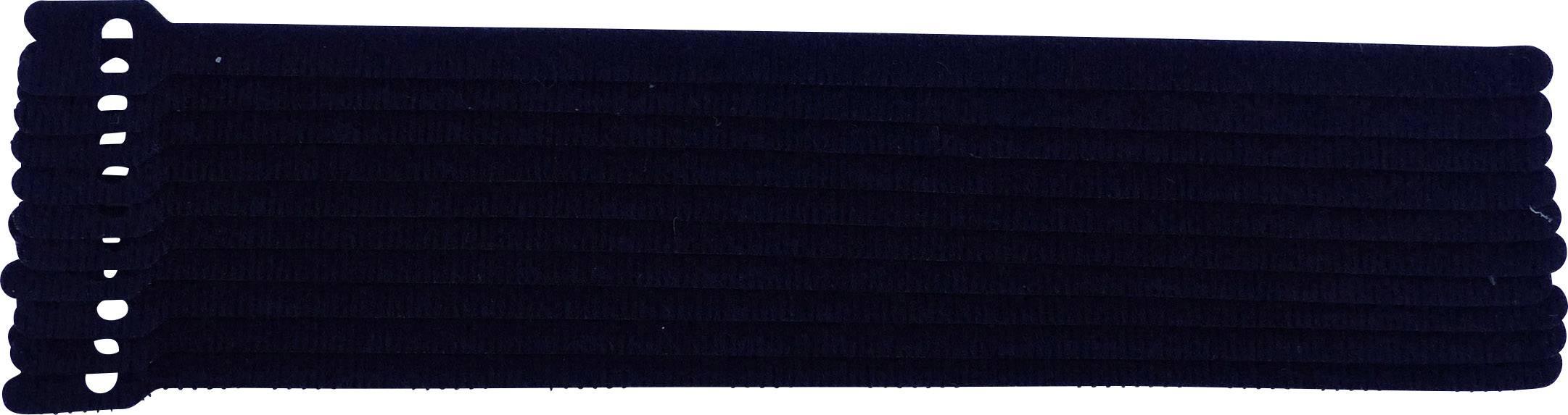 Kabelový manažer na suchý zip TRU COMPONENTS 801-330-Bag, černá, 10 ks
