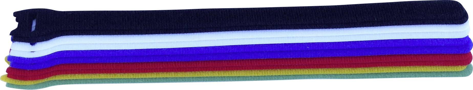 Káblový manažér na suchý zips TRU COMPONENTS 804-06-Bag, (d x š) 250 mm x 13 mm, farebná, 10 ks