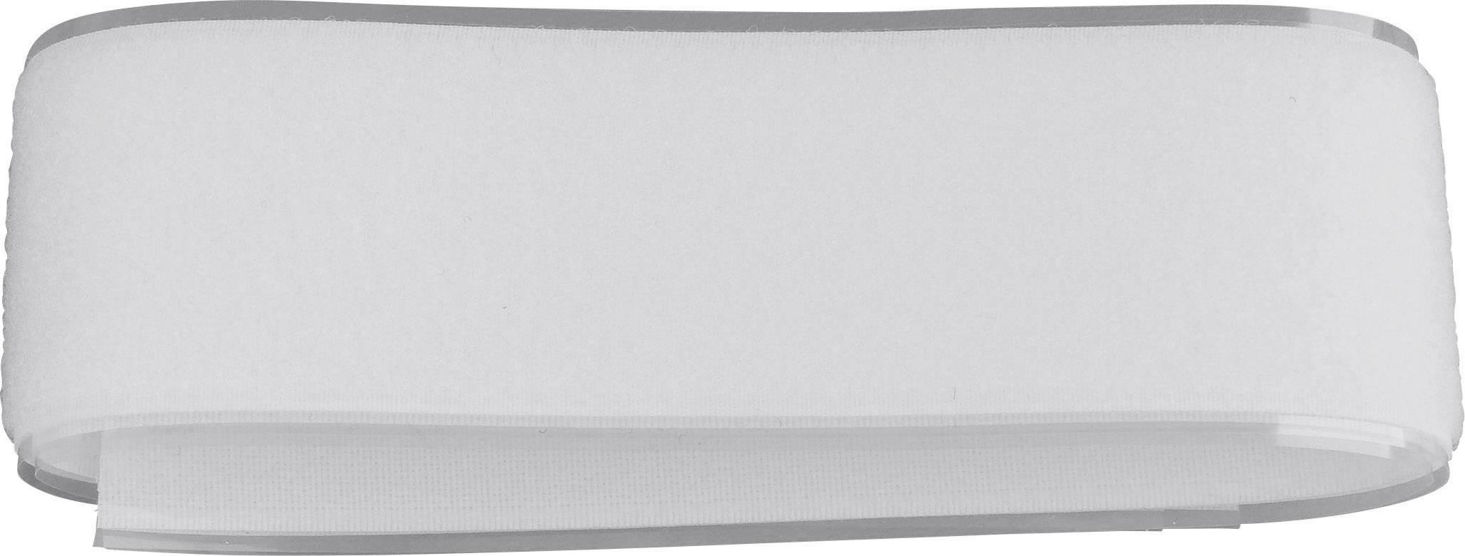 Lepiaci pásik so suchým zipsom TRU COMPONENTS 919-0000-Bag, biela, 1 pár