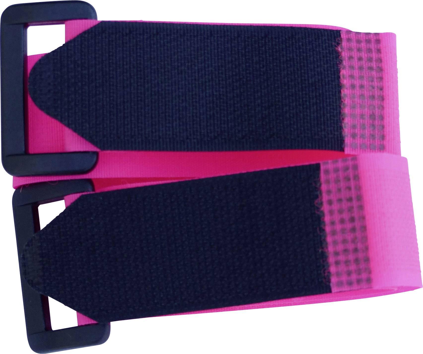 Pásek se suchým zipem TRU COMPONENTS 688-454-Bag, (d x š) 300 mm x 25 mm, fialová, 2 ks