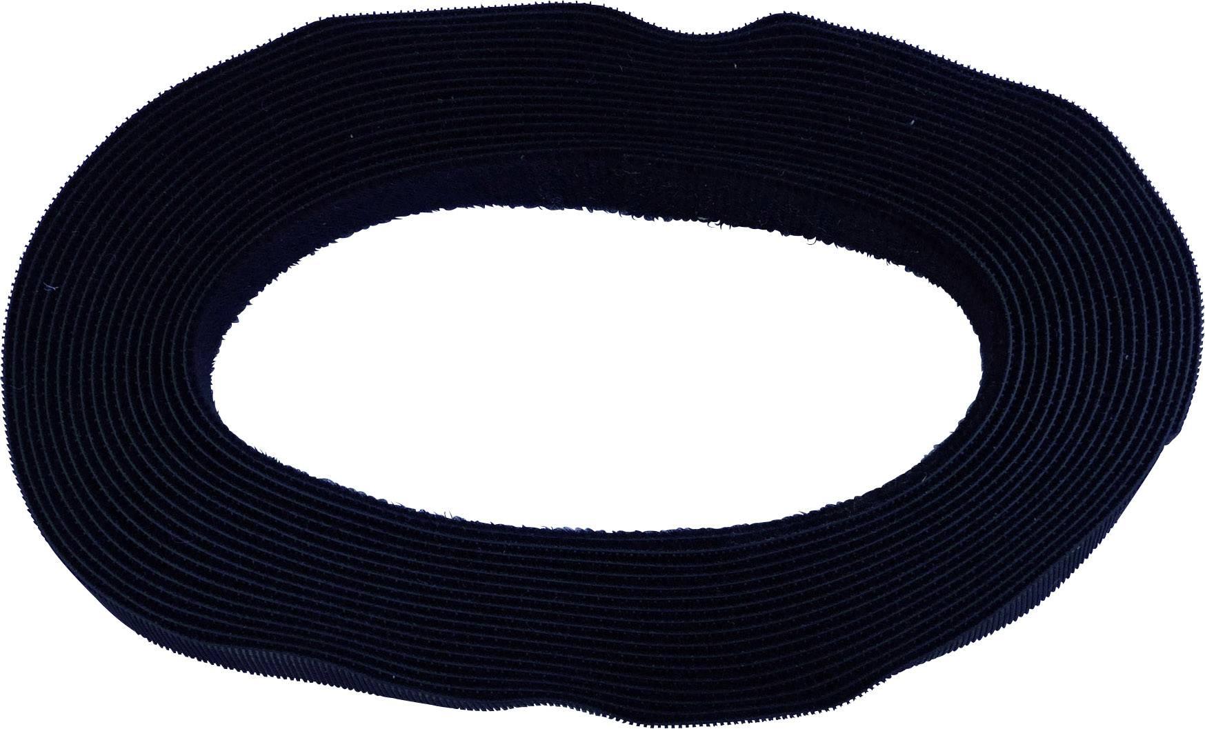 Pásik so suchým zipsom TRU COMPONENTS 697-330-Bag, (d x š) 5000 mm x 20 mm, čierna, 5 m