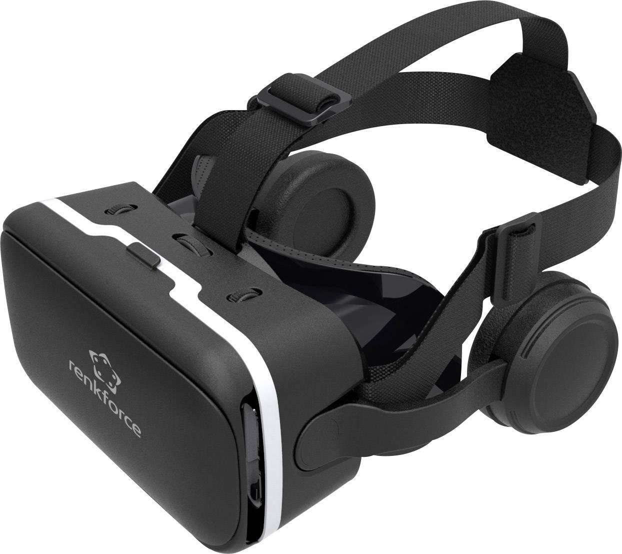 Okuliare pre virtuálnu realitu so slúchadlami Renkforce RF-VR2, čierna