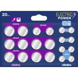 Electric Power sada knoflíkových baterií knoflíkové, 20 ks