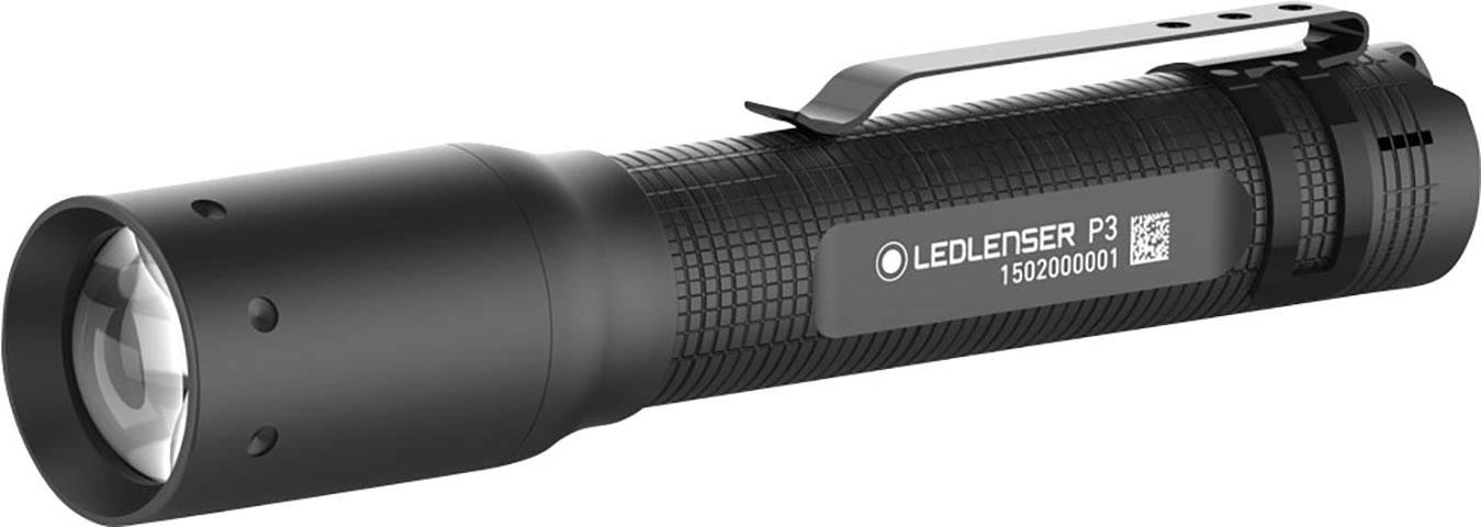 LED mini vreckové svietidlo (baterka) Ledlenser P3 500883, 35 g, čierna