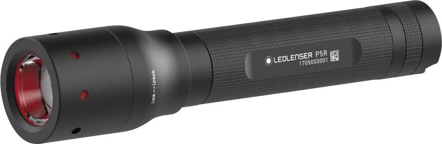 LED vreckové svietidlo (baterka) Ledlenser P5R 500897, 75 g, čierna