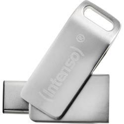 USB paměť pro smartphony/tablety Intenso cMobile Line, 32 GB, USB 3.2 Gen 1 (USB 3.0), stříbrná