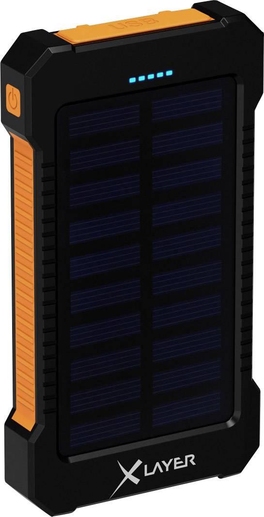 Solárna nabíjačka s LED svietidlom Xlayer Powerbank Plus 211474, 8000 mAh