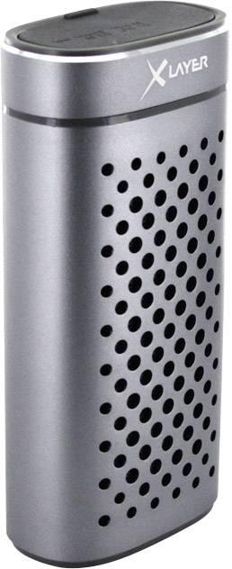 Bluetooth® reproduktor Xlayer Powerbank PLUS Speaker hlasitý odposluch, odolná/ý striekajúcej vode, grafit (metalíza)