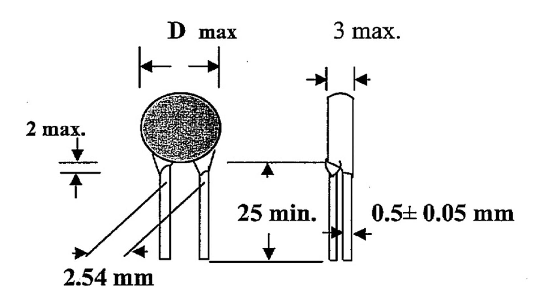 THT keramický kondenzátor TRU COMPONENTS TC-K10NF2, 10 nF, 100 V, 20 %, 1 ks