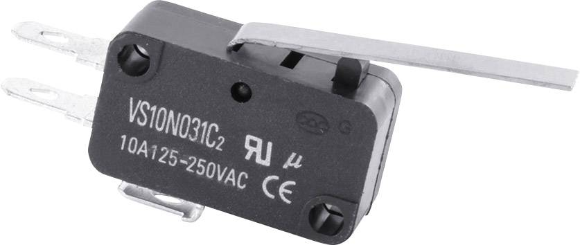 Mikrospínač - rovná páka TRU COMPONENTS TC-MS23, 10 A