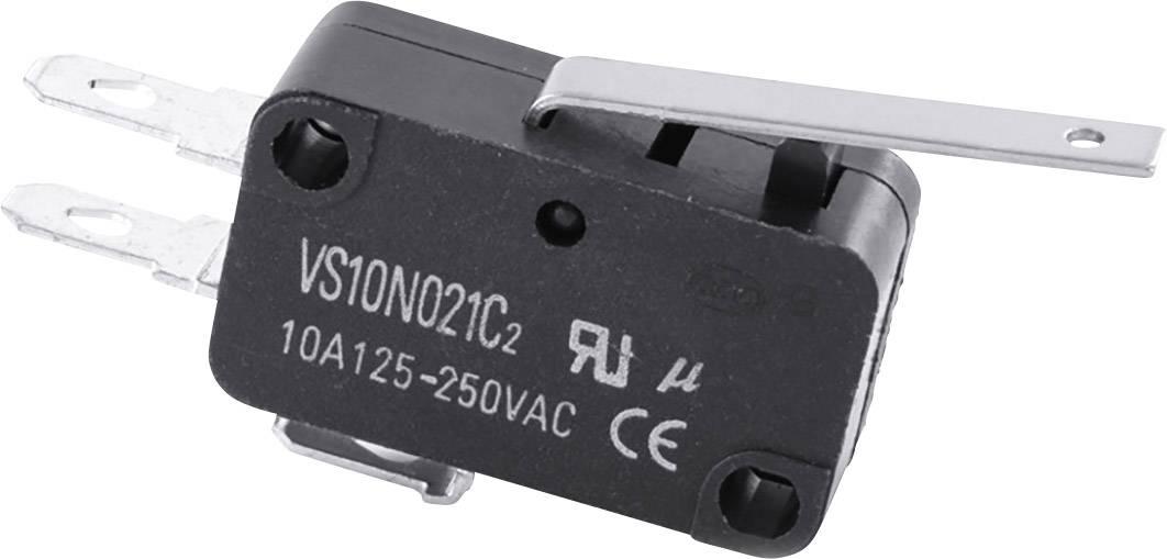 Mikrospínač - rovná páka TRU COMPONENTS TC-MS22, 10 A