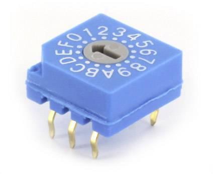 Kódovací spínač TRU COMPONENTS TC-CDS16, hexadecimální, 0-9/A-F, 1 ks