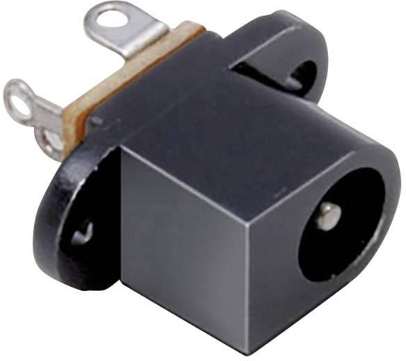 Nízkonapäťový konektor prírubová zásuvka TRU COMPONENTS 6.30 mm, 2.50 mm, 1 ks