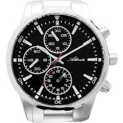 Chronografické nástěnné hodiny Atlanta Uhren XXL 4405 stříbrná