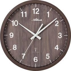 DCF nástěnné hodiny Atlanta Uhren 4438/20, vnější Ø 300 mm, ořechová