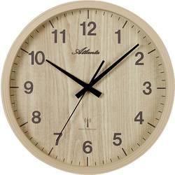 DCF nástěnné hodiny Atlanta Uhren 4438/30, vnější Ø 265 mm, olše