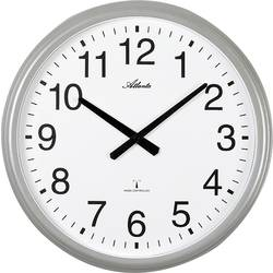 DCF nástěnné hodiny Atlanta Uhren 4449, vnější Ø 425 mm, stříbrná (matná)
