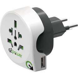 Cestovní adaptér Q2 Power Welt nach Schweiz mit USB 1.100210