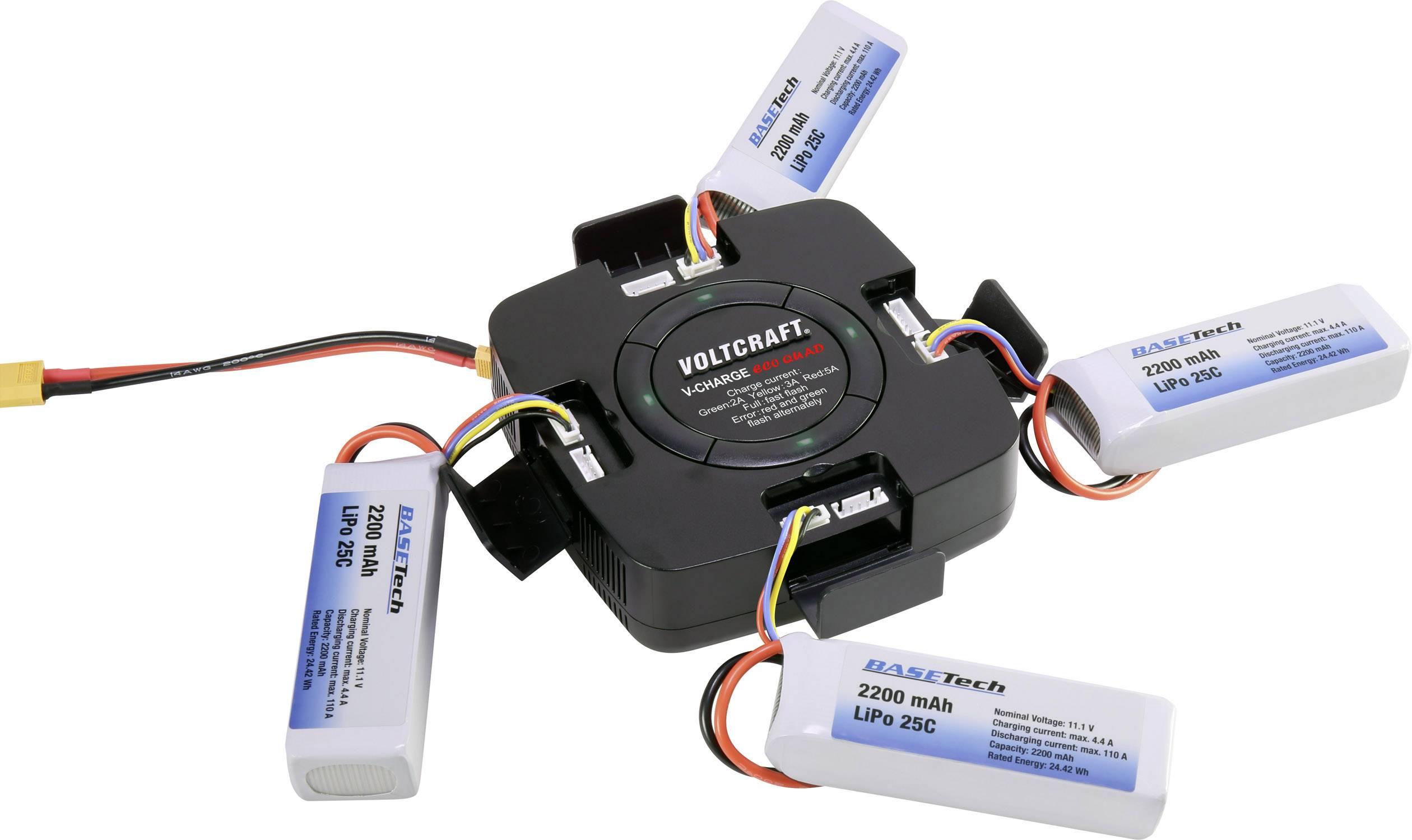 Modelářská nabíječka VOLTCRAFT V-Charge Eco Quad 1590606, 12 V, 32 V, 5 A