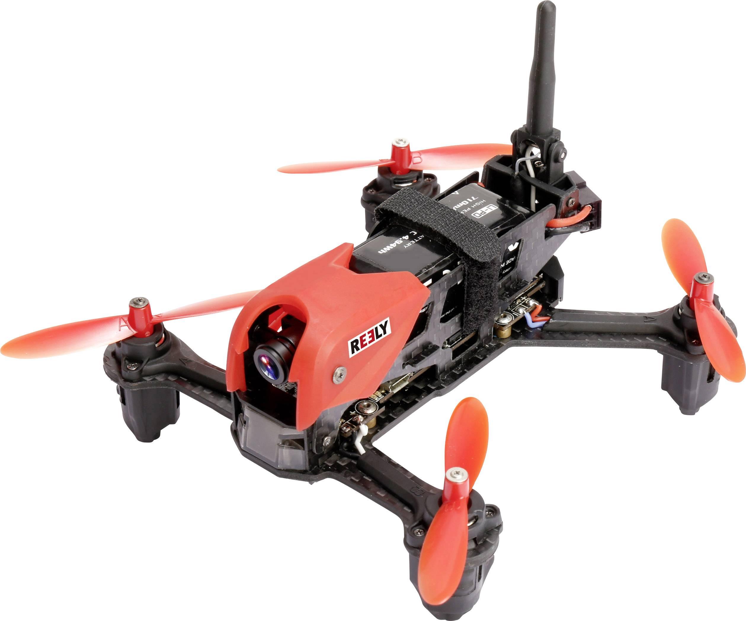 Závodní dron Reely X-190, RtF, FPV Race, pohled z kabiny pilota