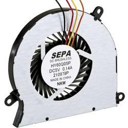 Radiální ventilátor SEPA HY60Q05PSE04A HY60Q05PSE04A-BLI, 5 V/DC, 27 dB, (d x š x v) 60.9 x 5 x 56.4 mm