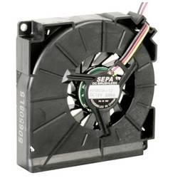 Radiální ventilátor SEPA HYB60A12 HYB60A12-BLI, 12 V/DC, 34 dB, (d x š x v) 59.5 x 12.5 x 59.5 mm