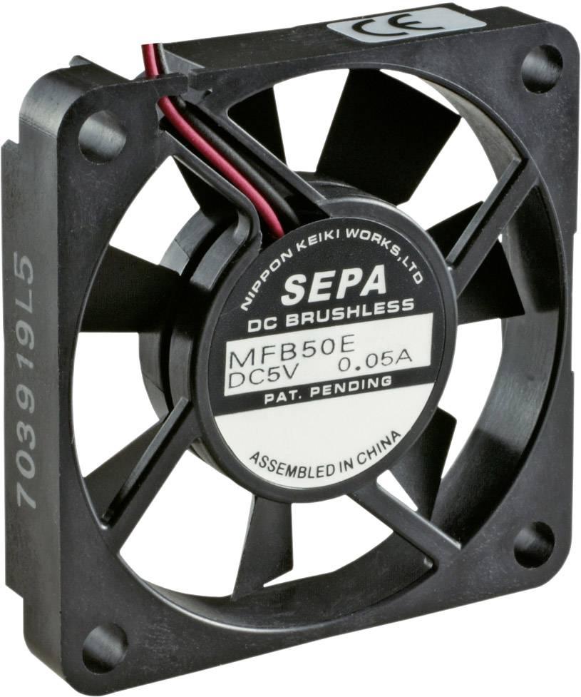 Axiální ventilátor SEPA MFB50E12A MFB50E12A-BLI, 12 V/DC, 30 dB, (d x š x v) 50 x 10.2 x 50 mm