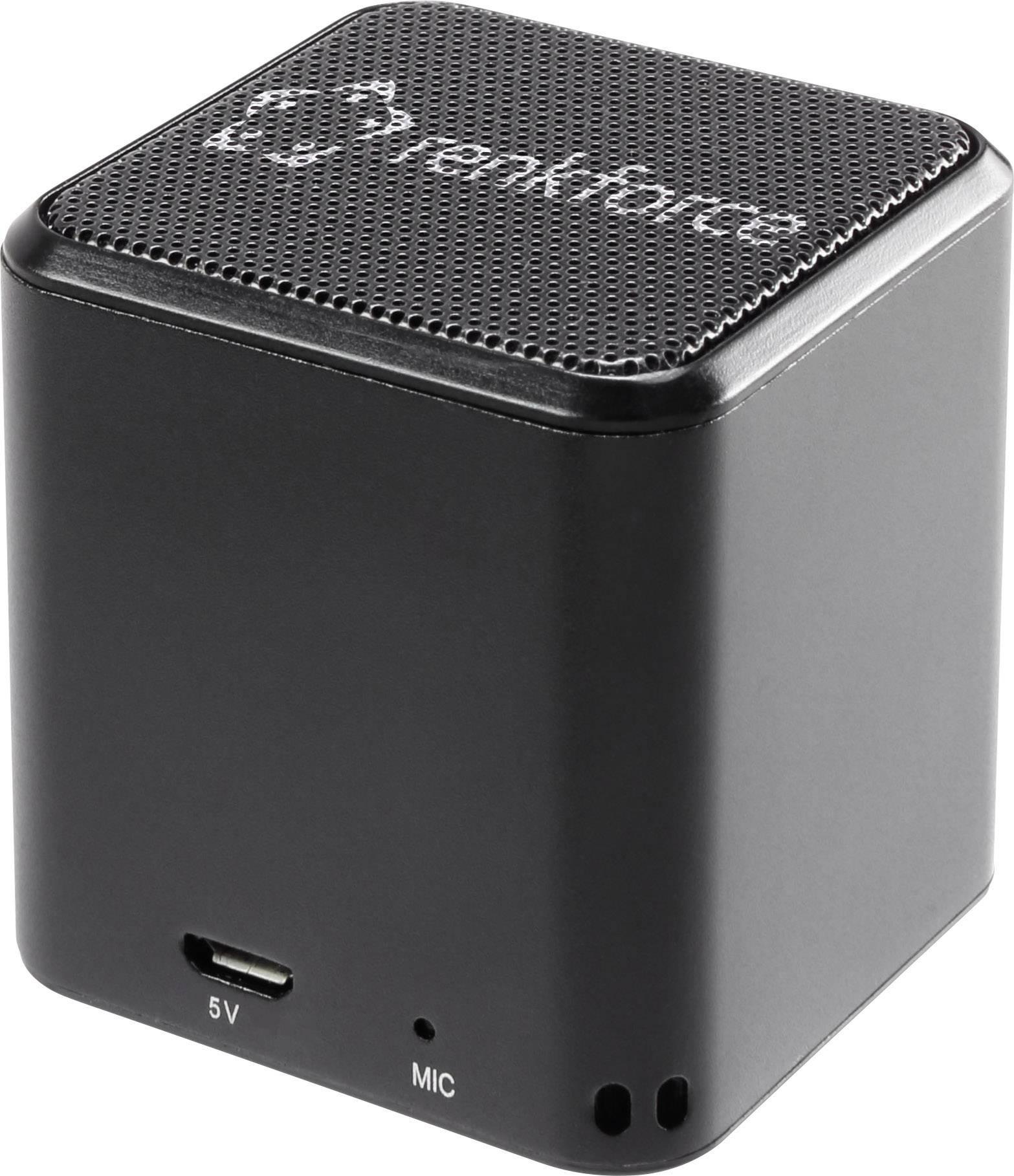 Bluetooth® reproduktor Renkforce BlackCube1 hlasitý odposlech (mikrofon pro telefonování), černá