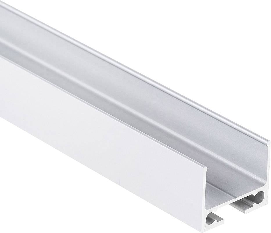 Lišta na kábel TRU COMPONENTS TRU-PL10-200, (d x š x v) 2000 x 16 x 14 mm, hliník