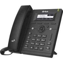 Šňůrový telefon, VoIP TipTel Htek UC902 handsfree, konektor na sluchátka, PoE podsvícený displej černá