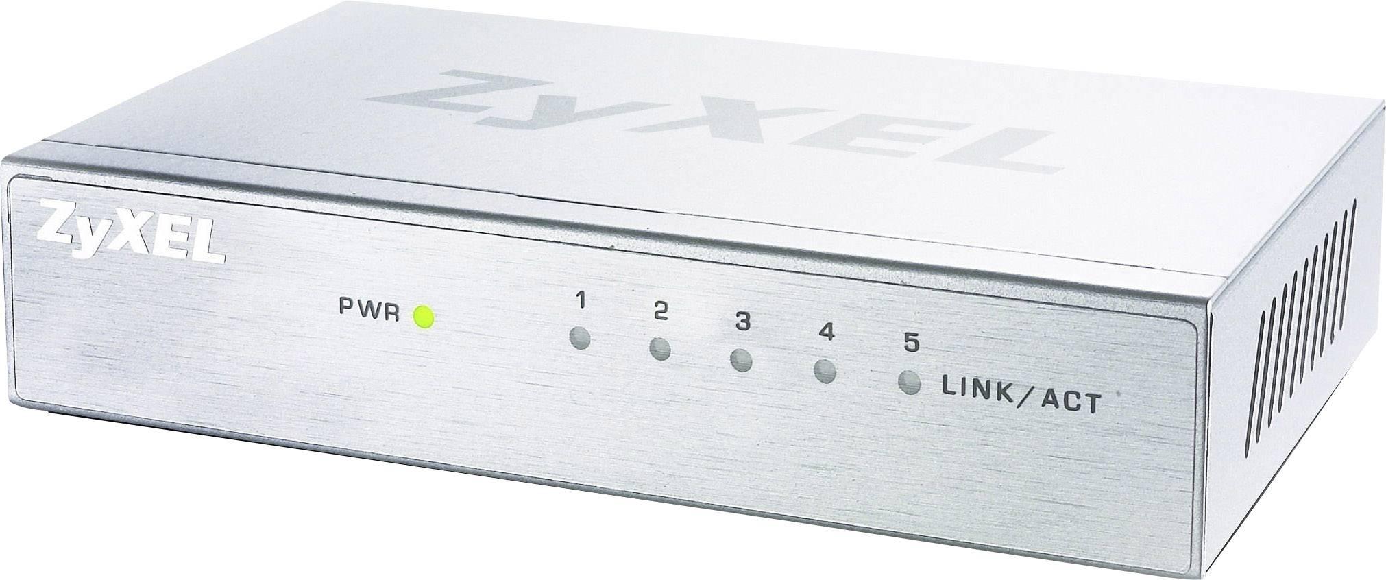 Síťový switch ZyXEL, GS-105B v3 5 Ports, 5 portů, 2.000 Mbit/s