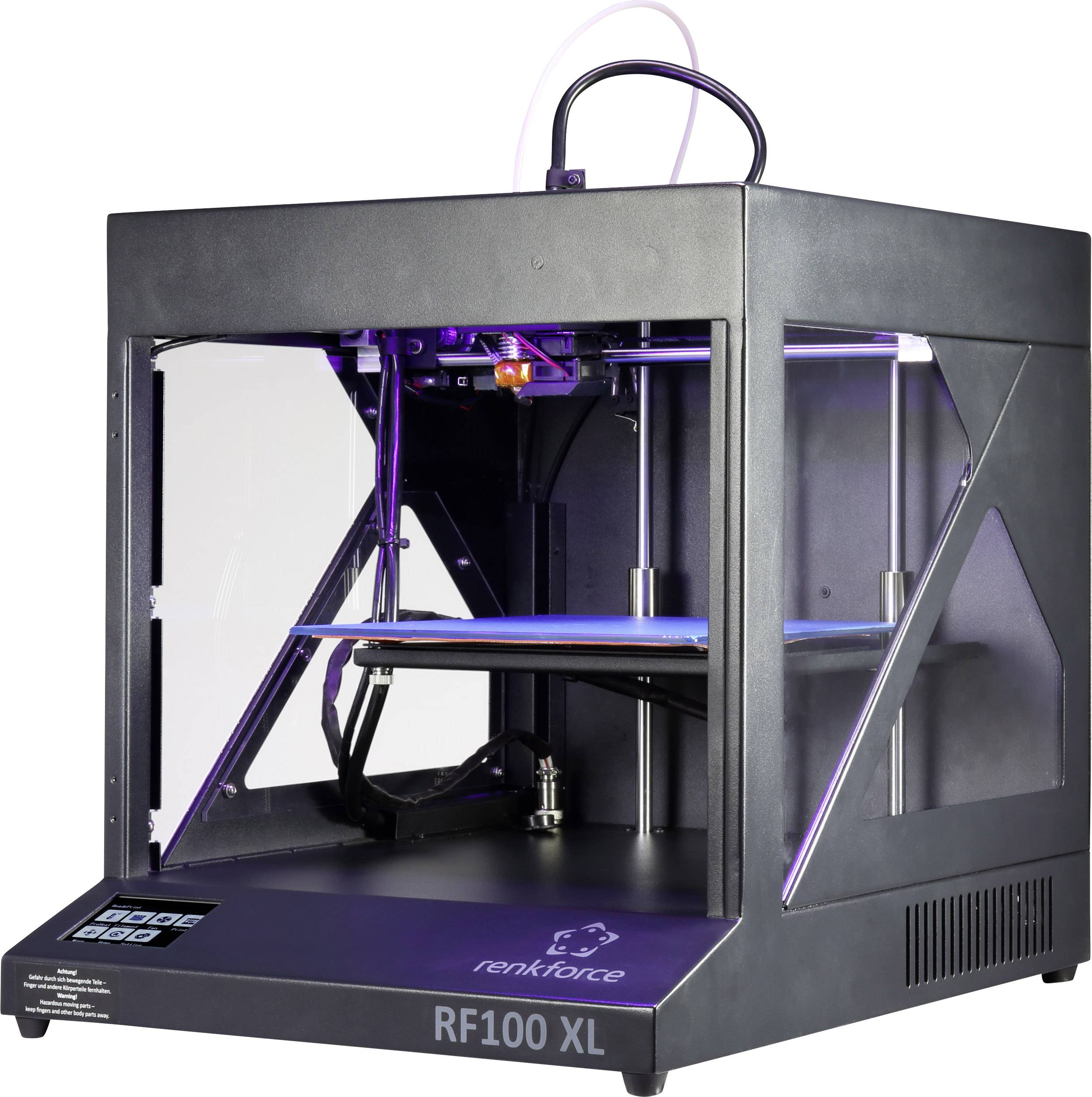 3D tlačiareň Renkforce RF100 XL Plus, s vyhrievanou tlačovou podložkou, vrátane vlákna