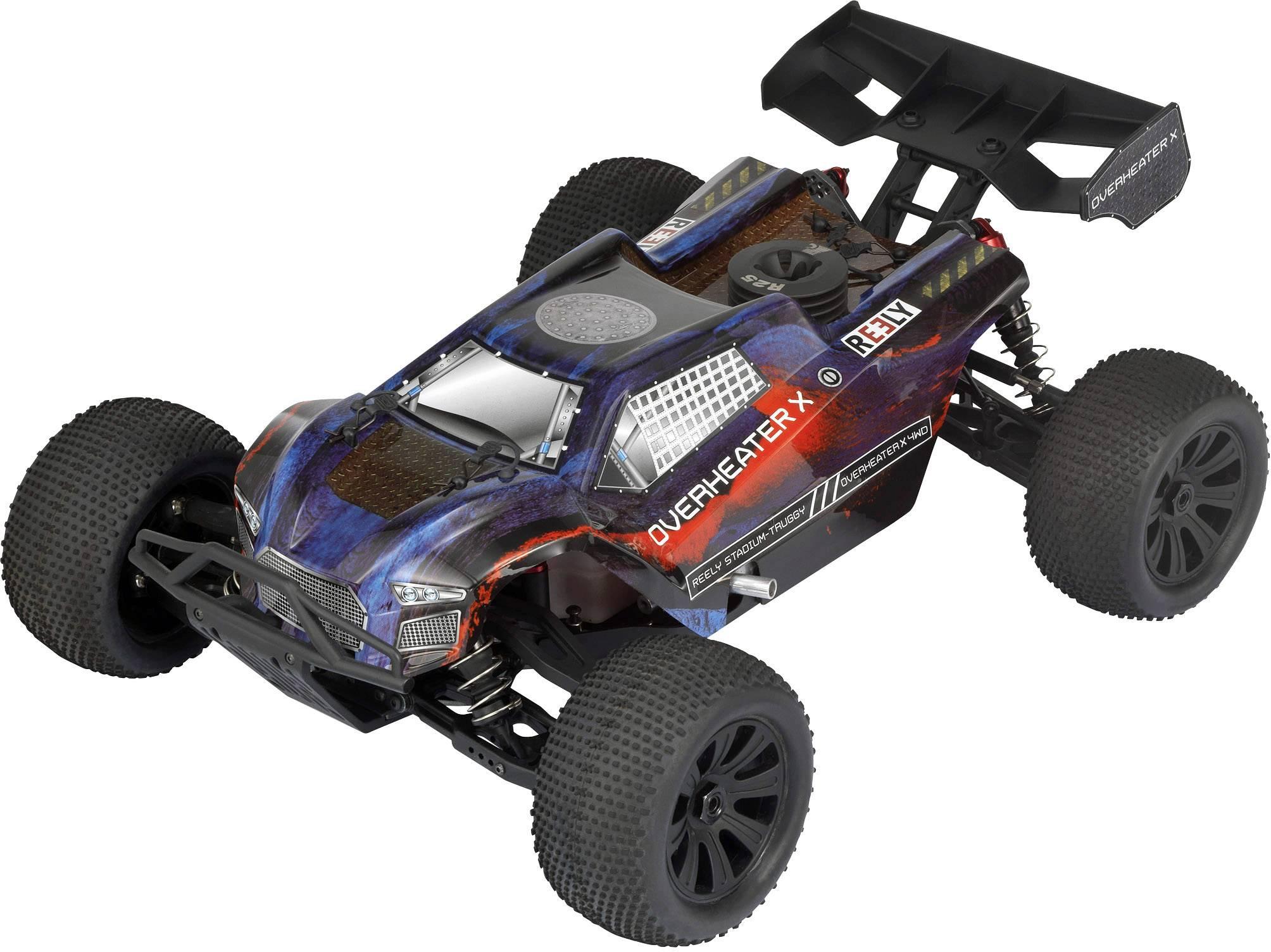 RC model auta truggy Reely Overheater, 1:8, spaľovací motor, 4WD (4x4), RtR, 65 km/h