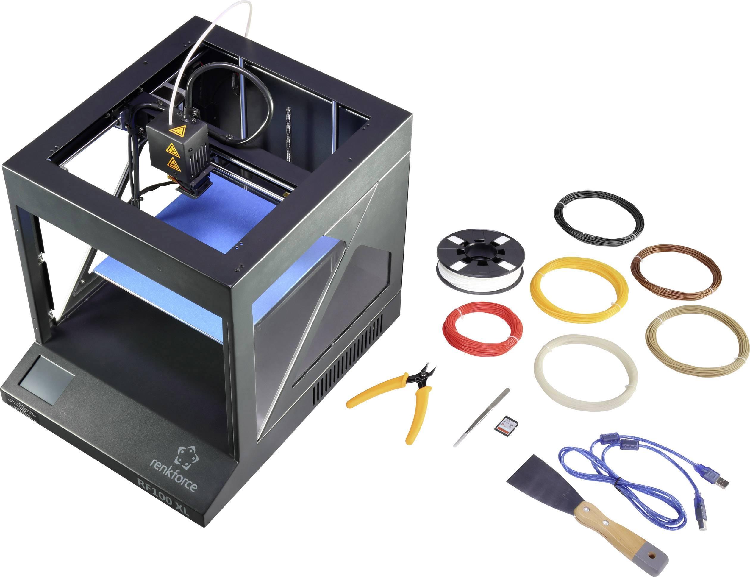 3D tlačiareň Renkforce RF100 XL, vrátane vlákna