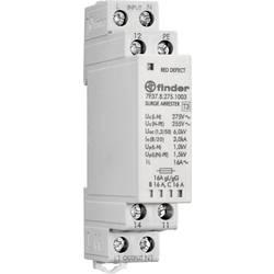 Svodič přepětí Finder 7P.37.8.275.1003, šedá, 16 A, 1 přepínací kontakt, 230 V, typ vodiče L, PE, N
