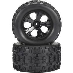 Kompletné kolesá Reely 1592705 pre monster truck, 128 mm, 1:10, 2 ks, čierna