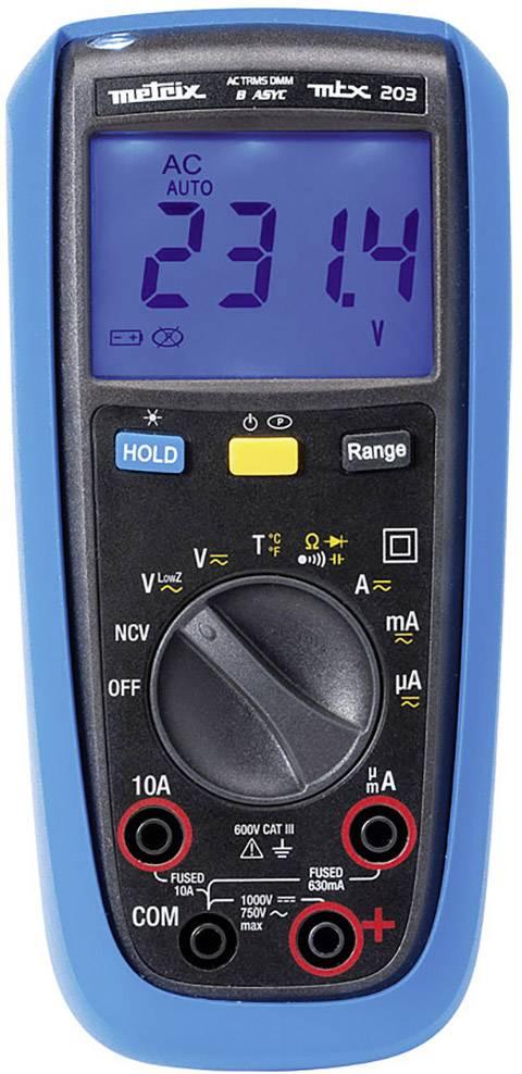 Digitálne/y ručný multimeter Metrix MTX203-Z, ochrana proti striekajúcej vode (IP54)
