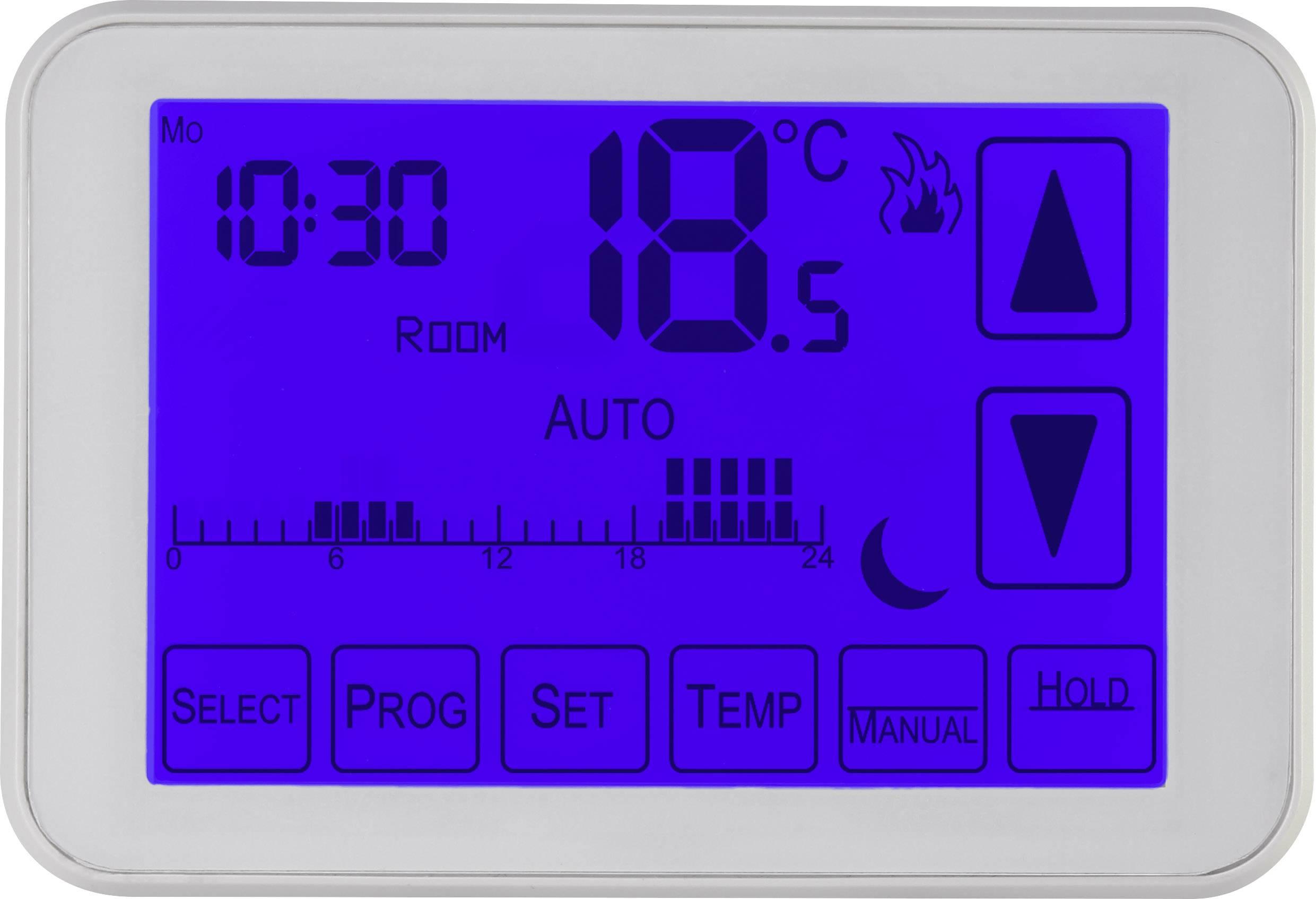 Pokojový termostat Sygonix týdenní program, 5 až 30 °C