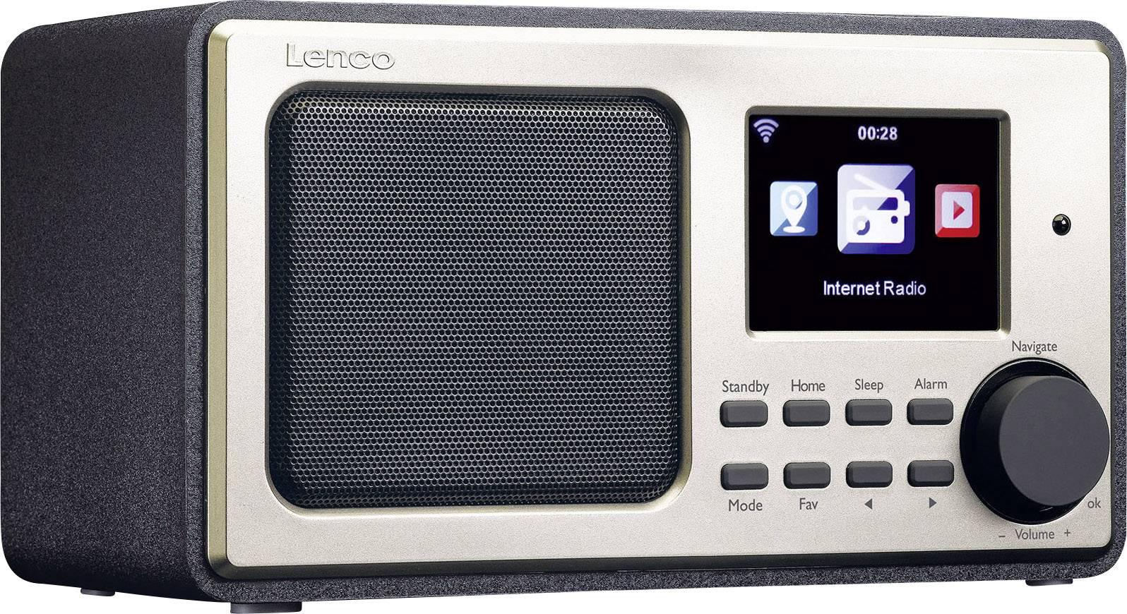 Internetové stolné rádio Lenco DIR-110, Wi-Fi, čierna, zlatá
