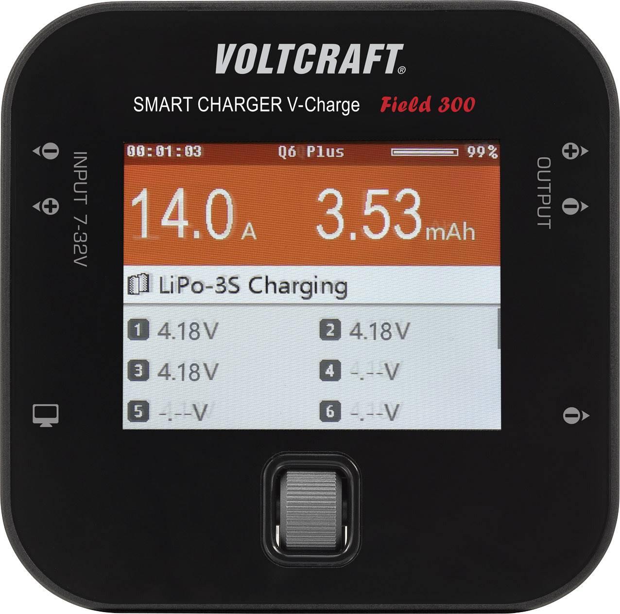 Modelářská multifunkční nabíječka VOLTCRAFT Field 300 1595032, 14 A