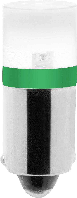 LED žárovka Barthelme BA9s, zelená, 230 V/DC, 230 V/AC,