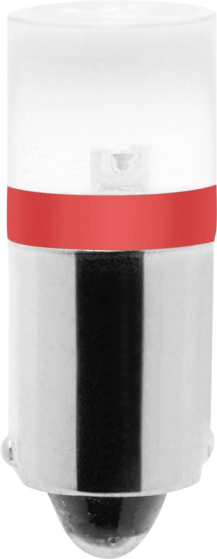 LED žárovka Barthelme BA9s, červená, 230 V/DC, 230 V/AC,
