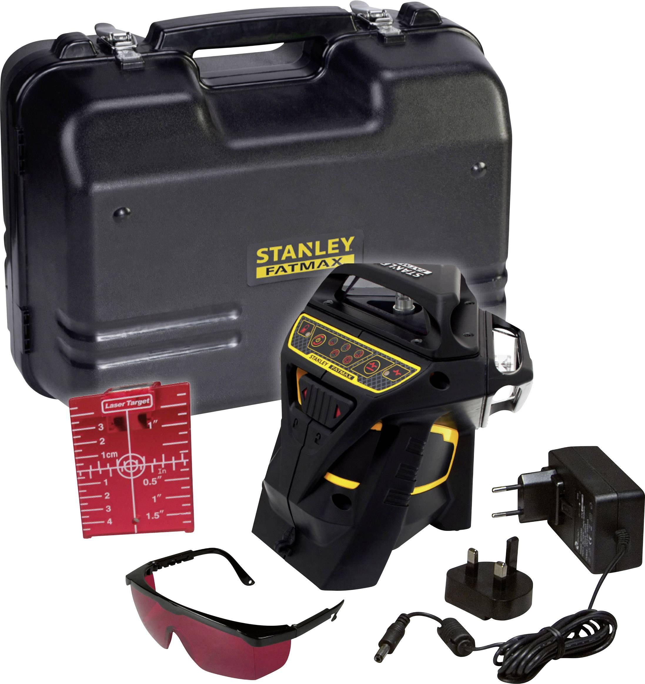 Křížová laserová vodováha samonivelační Stanley by Black & Decker FatMax X3R, dosah (max.): 20 m, Kalibrováno dle: bez certifikátu