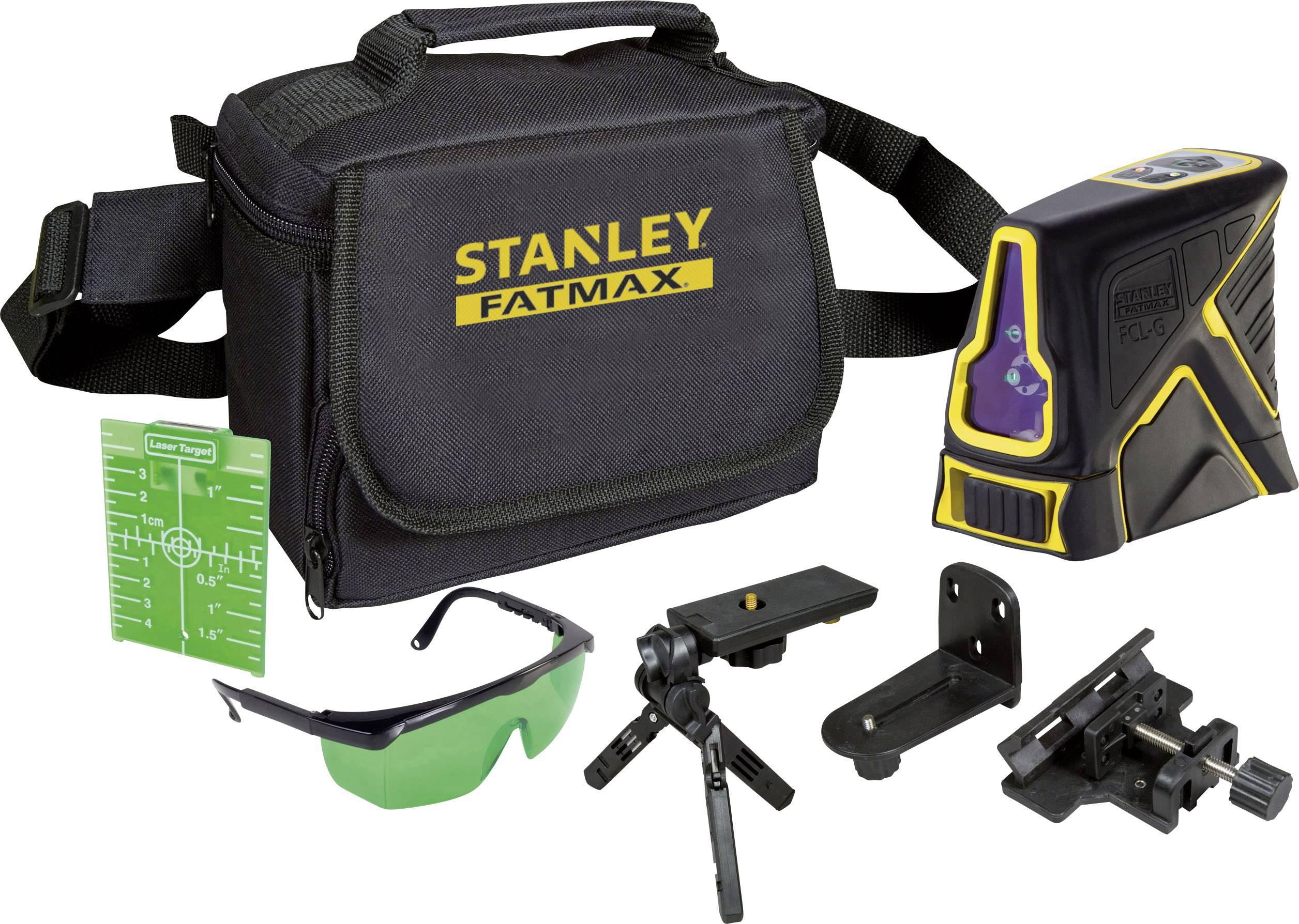 Křížový laser Stanley by Black & Decker FatMax FCL-G, dosah (max.): 20 m, Kalibrováno dle: vlastní